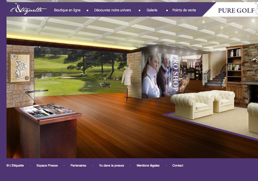 A great web design by Planete3W, Paris, France: