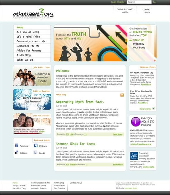 A great web design by fusionware design, Atlanta, GA: