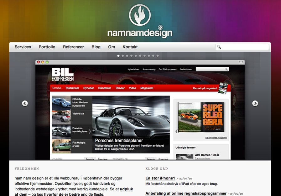 A great web design by nam nam design, Copenhagen, Denmark:
