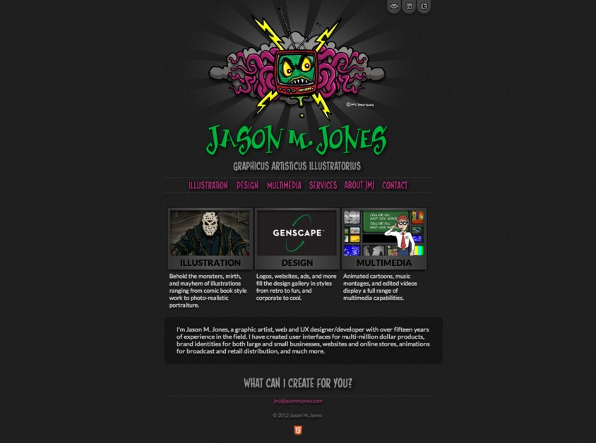 A great web design by Jason M. Jones, Louisville, KY: