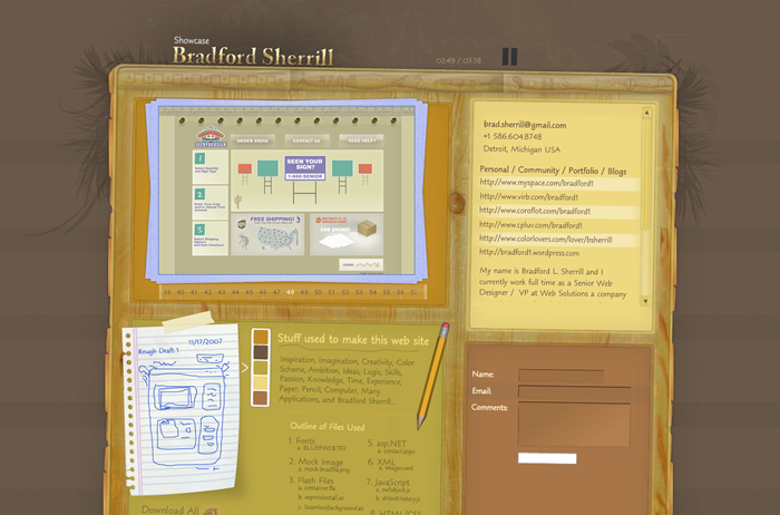 A great web design by Bradford Sherrill, Detroit, MI:
