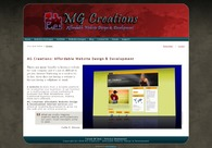 A great web design by MG Creations, Pietermaritzburg, South Africa: