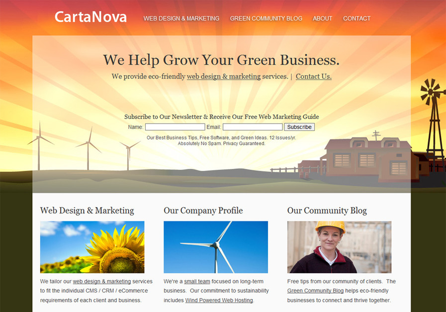 A great web design by CartaNova Web Design, Hamilton, Canada:
