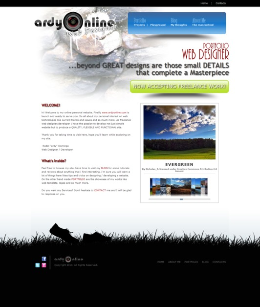 A great web design by ardyonline.com, Manila, Philippines: