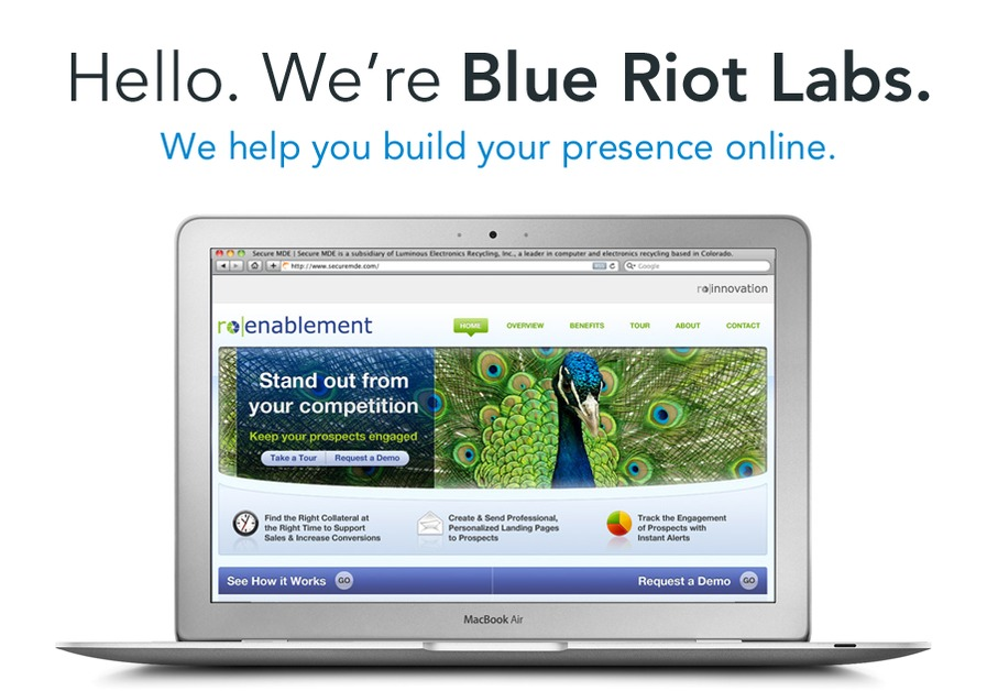 A great web design by Blue Riot Labs, Denver, CO: