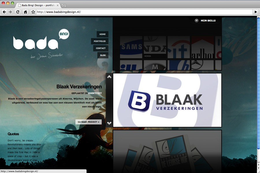 A great web design by Studio Bada Bing!, Eindhoven, Netherlands:
