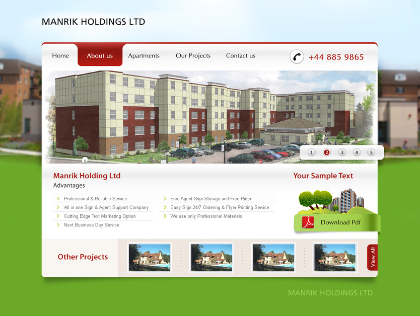 A great web design by New Age Infotech Limited, Nairobi, Kenya: