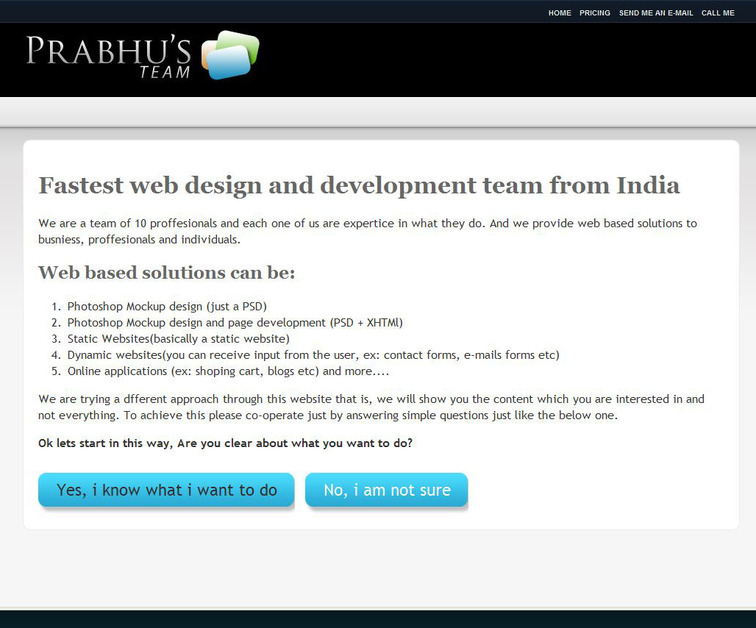 A great web design by Prabhu, Bangalore, India:
