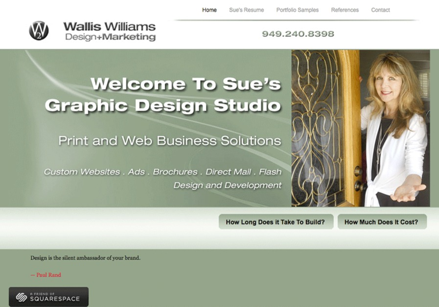 A great web design by Wallis Williams Design and Marketing, Los Angeles, CA: