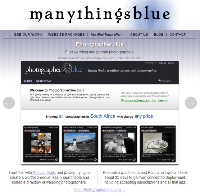 A great web design by manythingsblue, Richmond, VA: