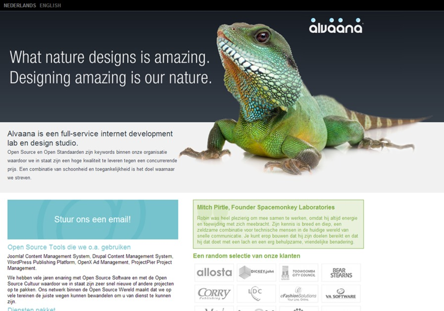 A great web design by Alvaana, Leeuwarden, Netherlands: