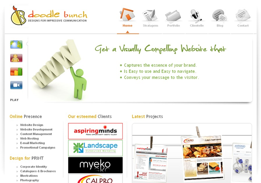 A great web design by DoodleBunch.com, New Delhi, India: