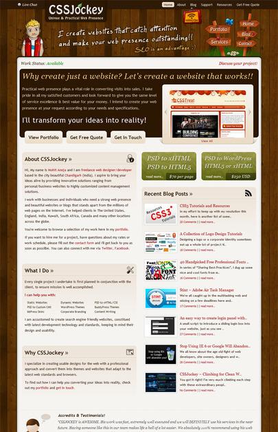 A great web design by CSSJockey, Chandigarh, India: