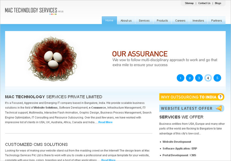 A great web design by MAC Technology , Bangalore, India: