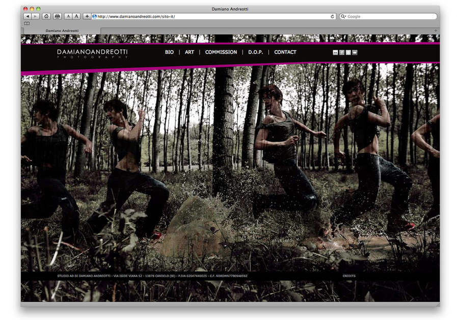 A great web design by Peperosa visual design, Biella, Italy: