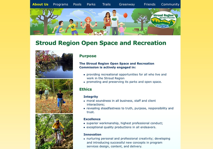 A great web design by Nonprofit Technology Inc., Stroudsburg, PA: