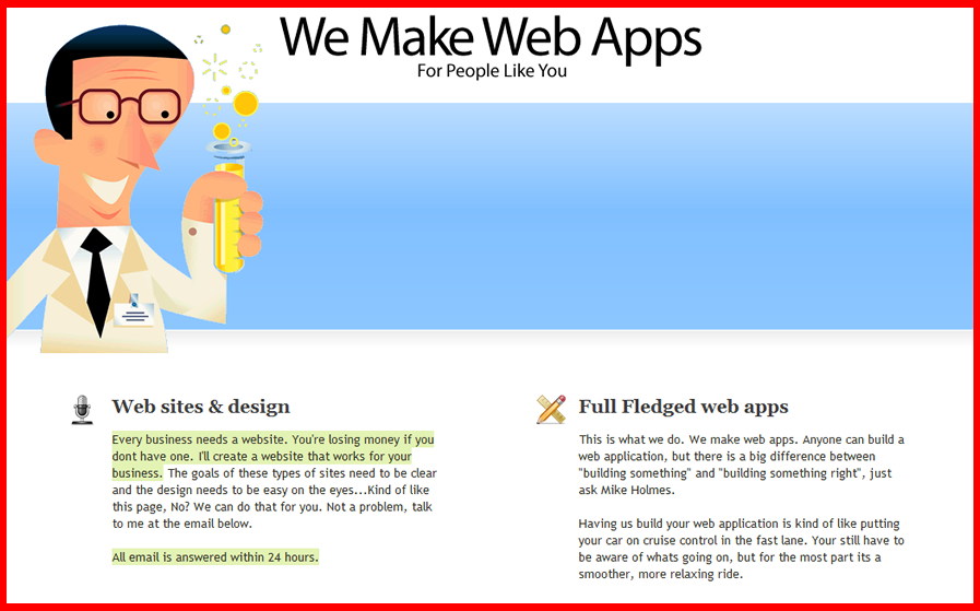 A great web design by We Make Web Apps, Vancouver, Canada: