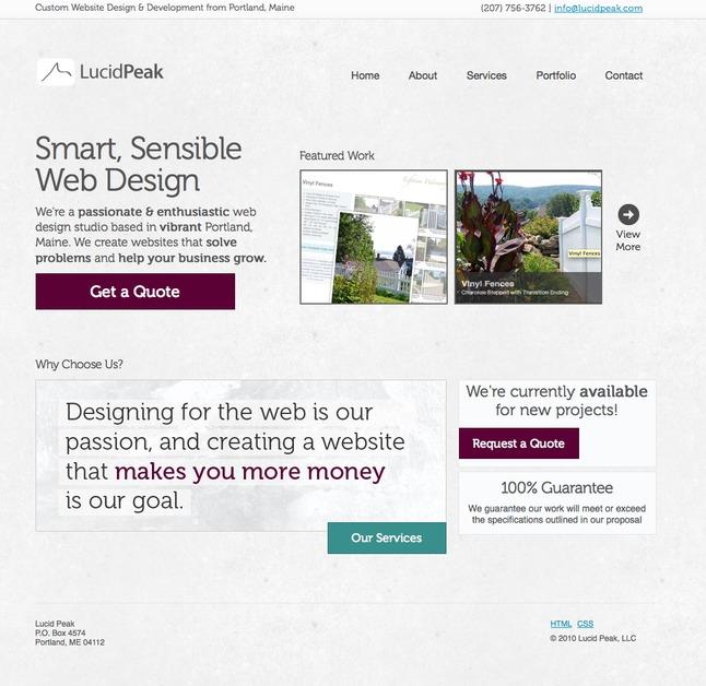 A great web design by Lucid Peak, Portland, ME: