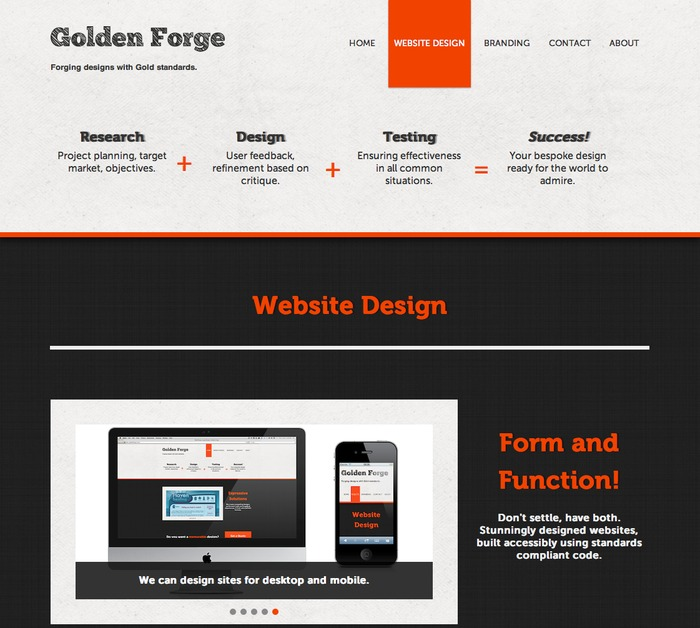 A great web design by Golden Forge, Reading, United Kingdom: