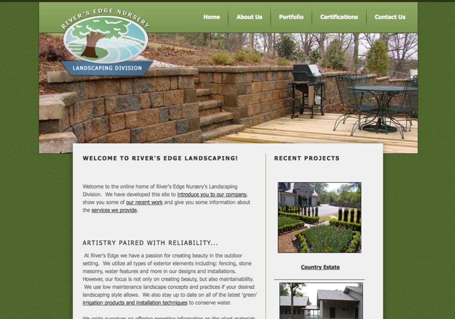 A great web design by Top Hat Websites, Greenville, SC: