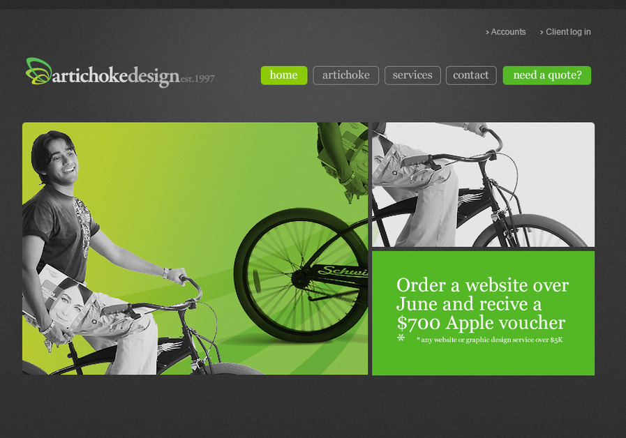 A great web design by Artichoke Web Design Sydney, Sydney, Australia: