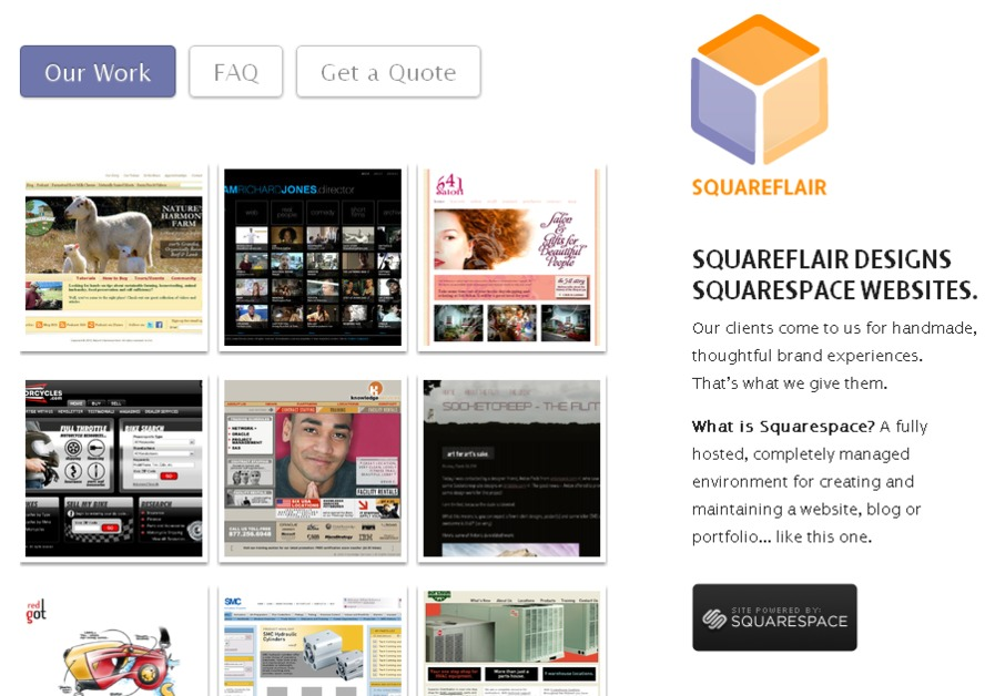 A great web design by Squareflair, Indianapolis, IN: