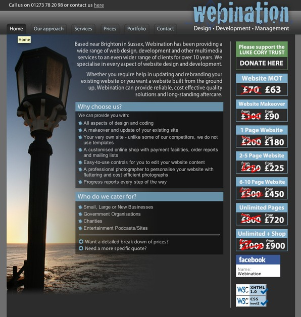A great web design by Webination, Worthing, United Kingdom: