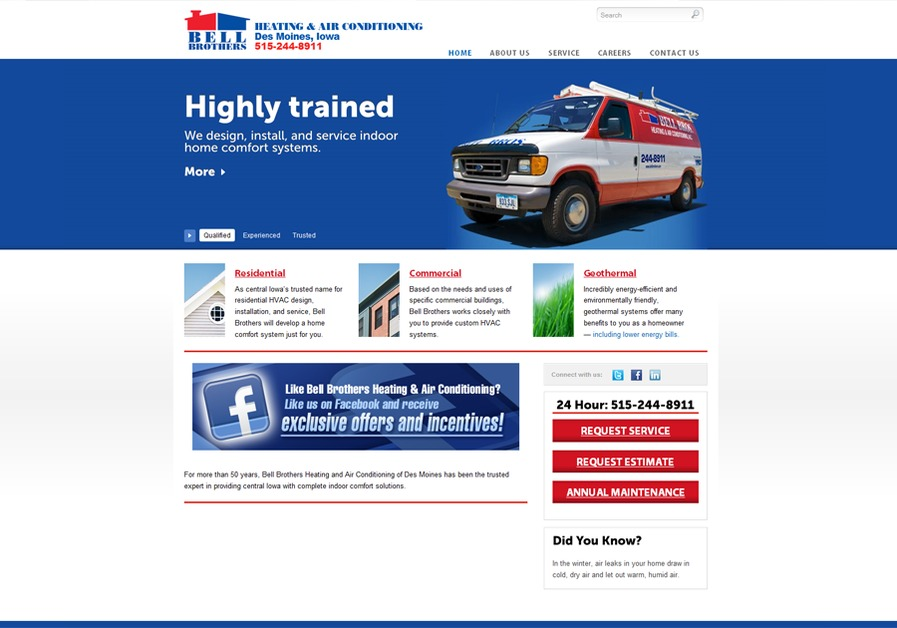 A great web design by Two Rivers Marketing, Des Moines, IA: