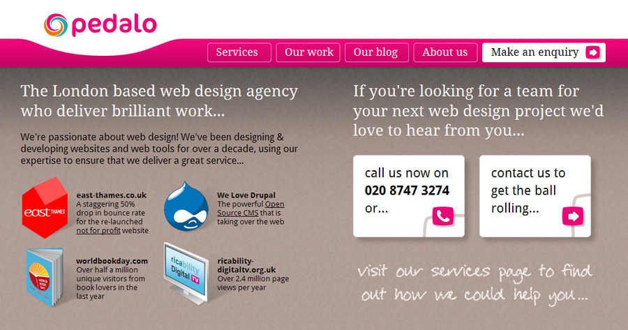 A great web design by Pedalo Limited, London, United Kingdom: