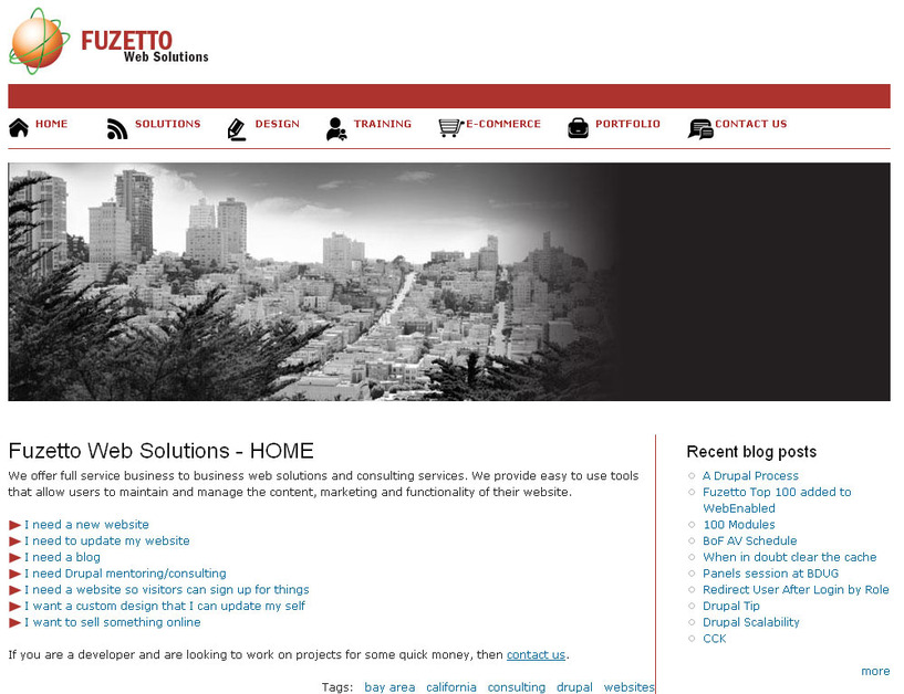A great web design by Fuzetto Web Solutions, San Francisco, CA:
