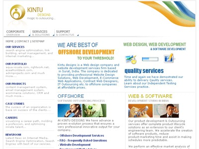 A great web design by Kintu Designs Pvt. Ltd, Surat, India: