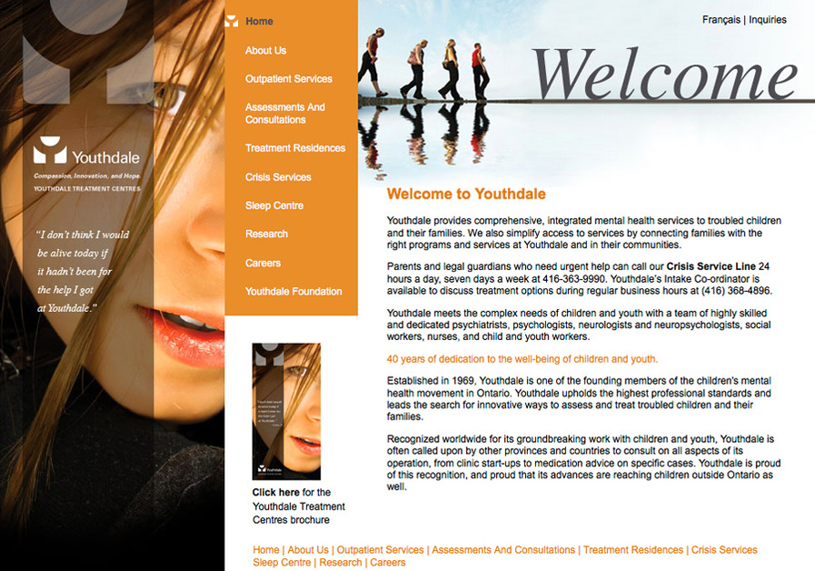 A great web design by Rapport Communications & Design Inc, Toronto, Canada: