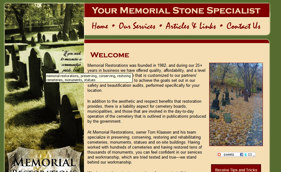A great web design by Just Joan Marketing Services, Muskoka, Canada: