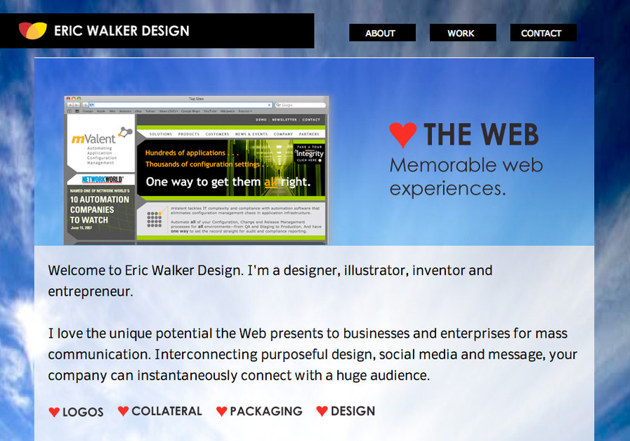 A great web design by Eric Walker Design, Boston, MA: