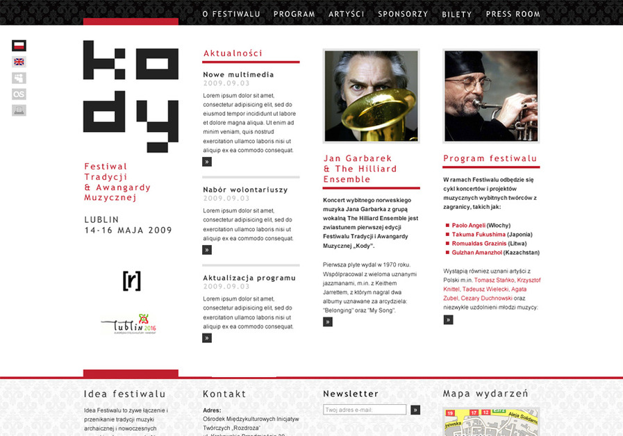 A great web design by Tom Kulbowski, Lublin, Poland: