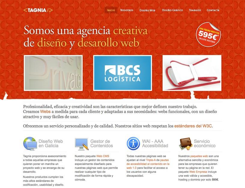 A great web design by Tagnia, A Coruna, Spain: