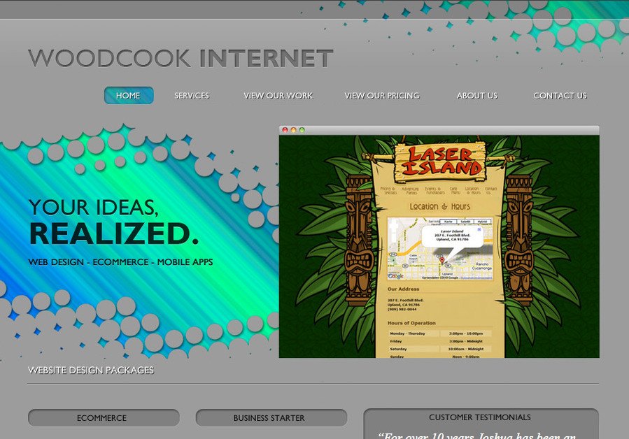 A great web design by Woodcook Internet, Los Angeles, CA: