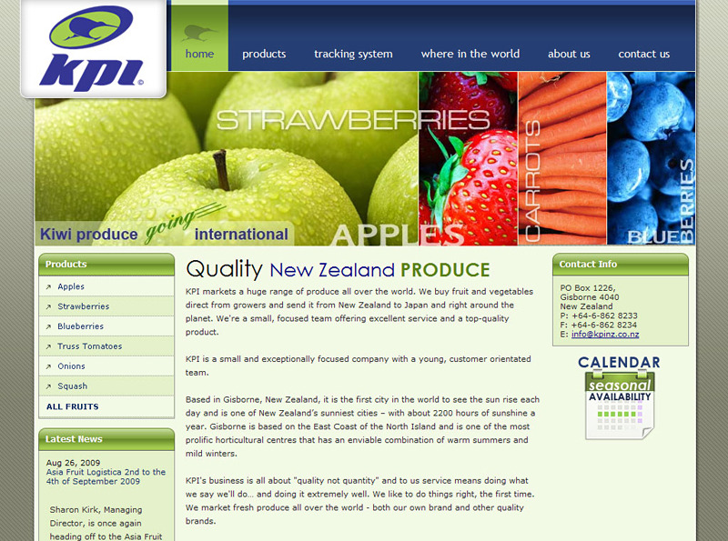 A great web design by Webdzinz Winning Websites, Auckland, New Zealand:
