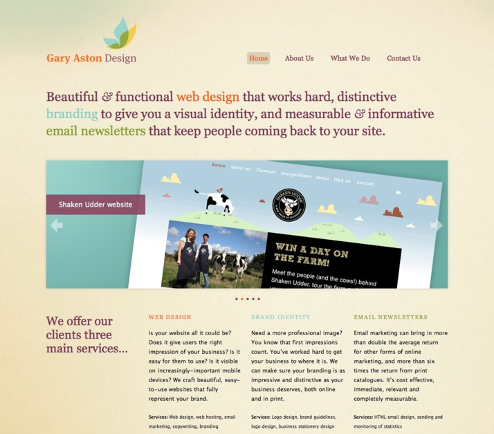 A great web design by Gary Aston Design, Colchester, United Kingdom: