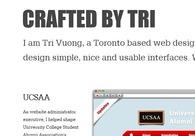A great web design by Tri Vuong, Toronto, Canada: