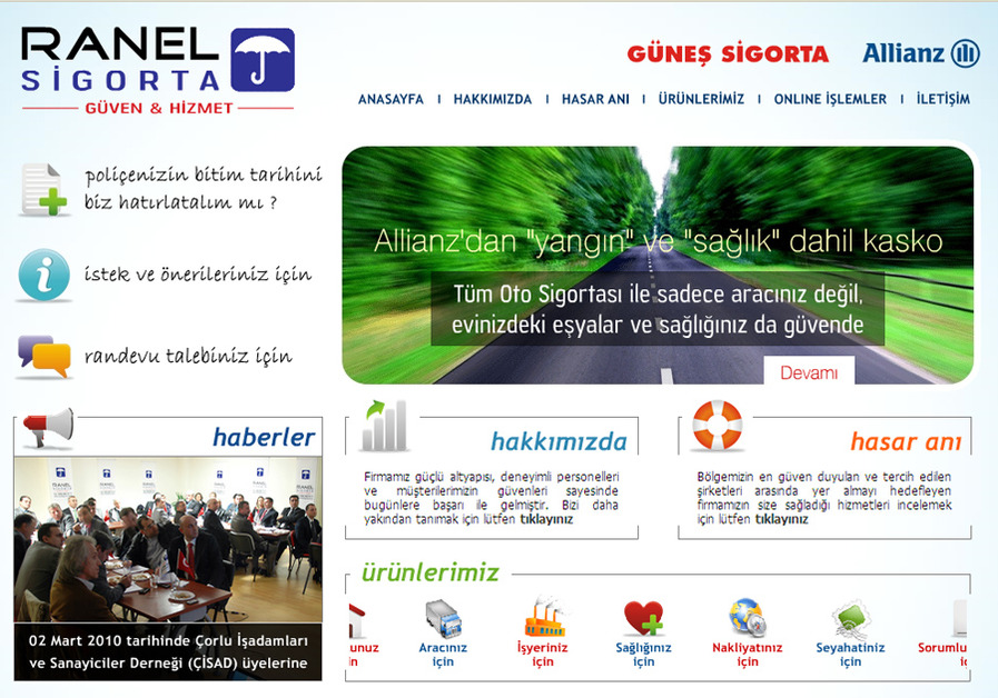 A great web design by Onmedya, Tekirdag, Turkey: