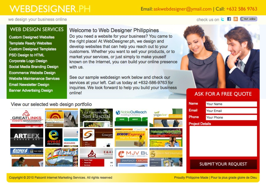 A great web design by WebDesigner.ph, Makati, Philippines: