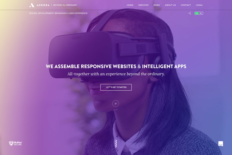 A great web design by Azoora, Inc., Brussels, Belgium: Responsive Website, Portfolio , Software , Other