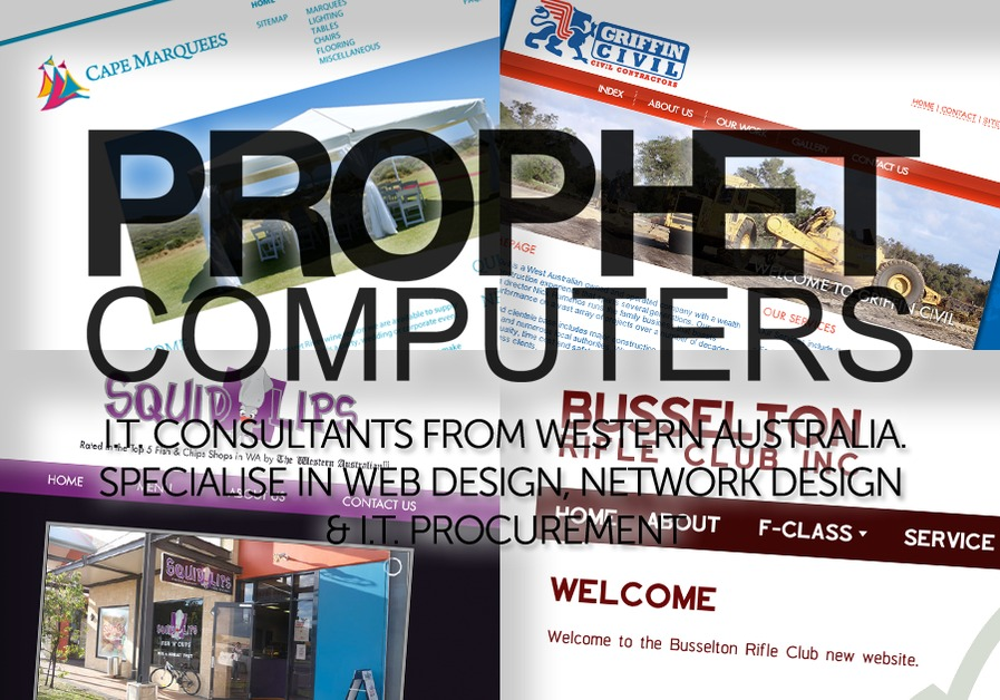 A great web design by Prophet Computers, Perth, Australia: