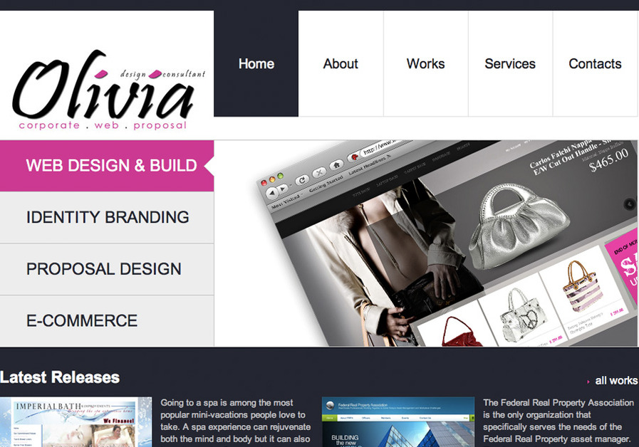 A great web design by Olivia Garrett Design , Washington DC, DC: