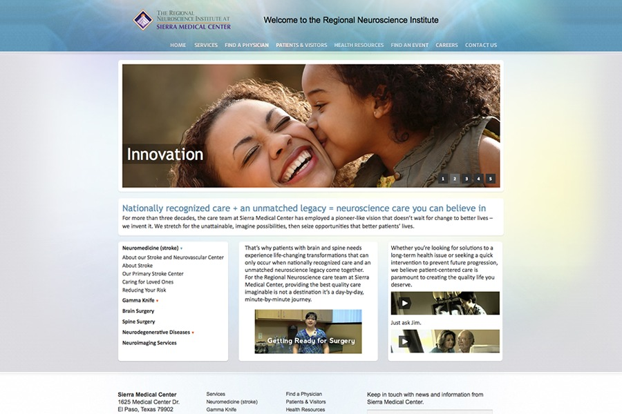 A great web design by Edward Guillen, Dallas, TX: