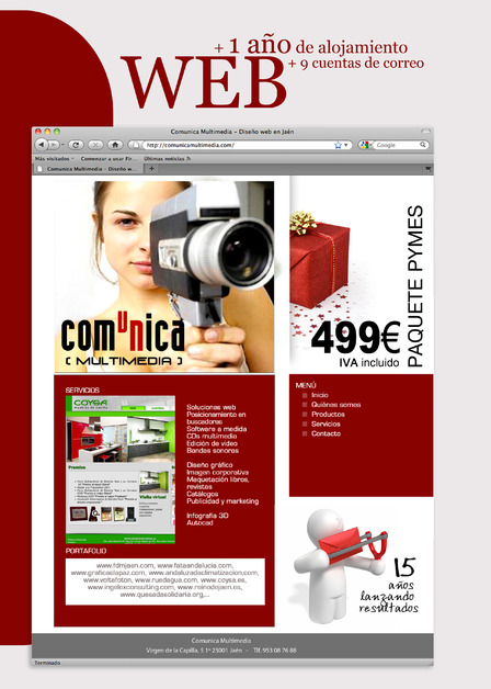 A great web design by Comunica Multimedia, Jaen, Spain: