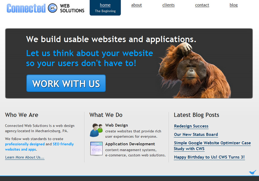 A great web design by Connected Web Solutions, Harrisburg, PA: