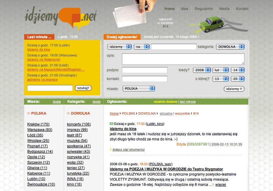 A great web design by Strona 1, Warsaw, Poland: