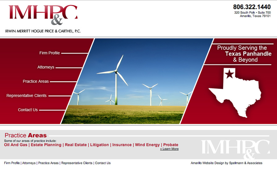 A great web design by Spellmann & Associates, Amarillo, TX:
